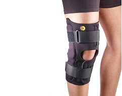 "Anterior Closure Knee Wrap w/Hinge 3/16"" Op Pop"