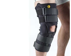 "13"" Anterior Closure Knee Wrap w/ROM Hinge 3/16"" Op Pop"