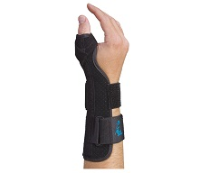 Suede Thumb Support Long