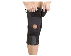 AKS Knee Support w/Plastic Hinges w/CoolFlex