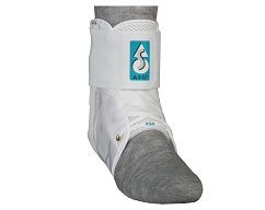 ASO w/2 Plastic Stays Ankle Stabilizer (White)