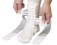 ASO Speed Lacer Ankle Stabilizer (White)